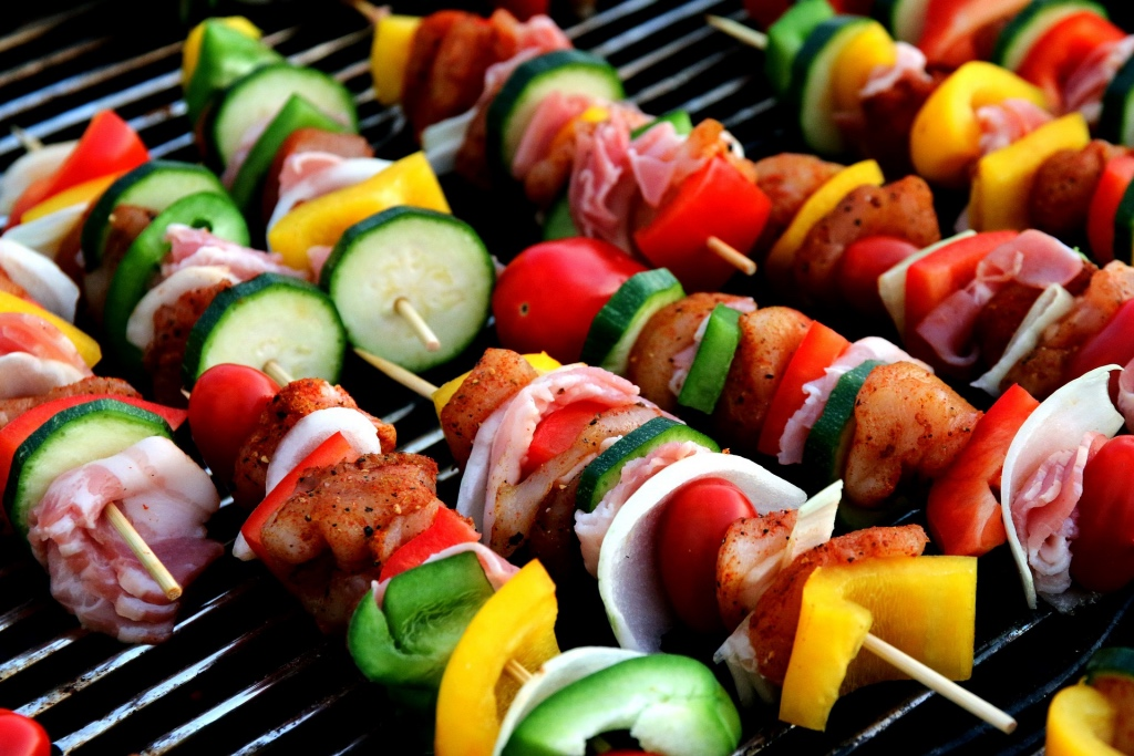 Vegetable shish kebabs | photo by moerschy | summer entertaining by foodwithaview.com