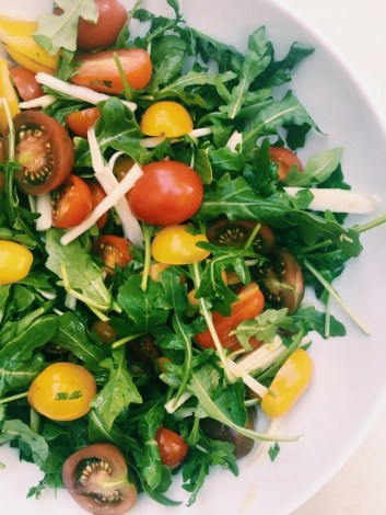 summer salad with jersey tomatoes