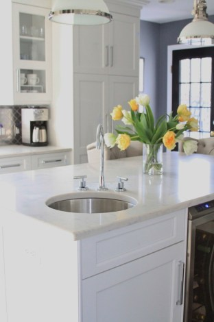 Prep sink in the island | kitchen renovation | a kitchen love story by foodwithaview.com