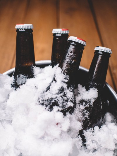 Craft beers on ice for tasting and pairing | photo by pawel kadysz | beer and food, food and beer | foodwithaview.com
