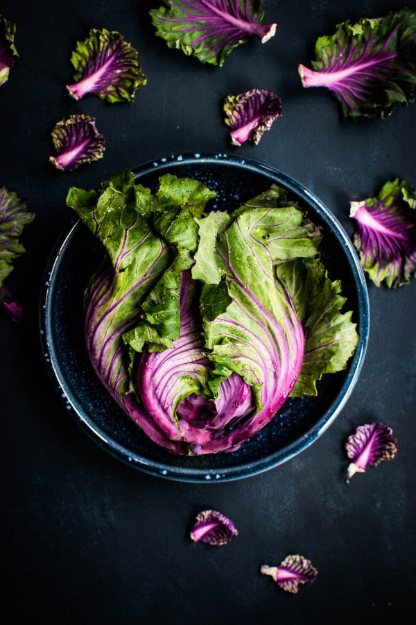 Beautiful purple and green leaf lettuce | How a food blogger really eats | foodwithaview.com
