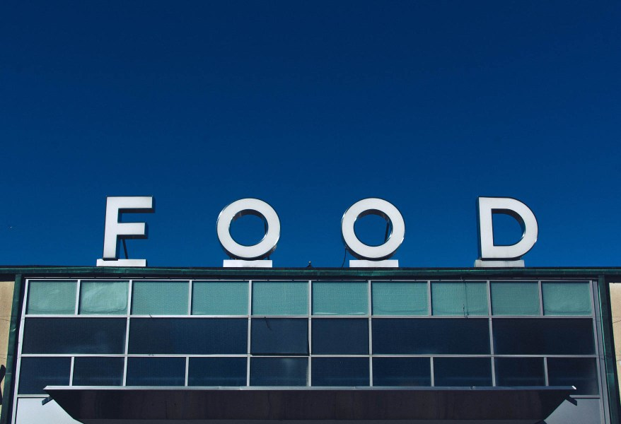 Big sign with the word Food | How a food blogger really eats | foodwithaview.com