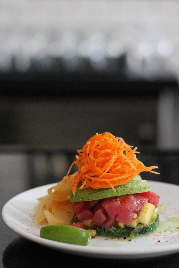 Tuna poke at The Hills Tavern Millburn NJ | Favorite food photos | Happy anniversary foodwithaview.com