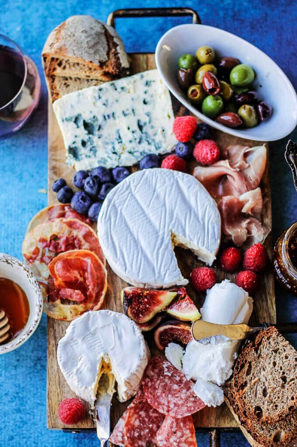 French Cheese Board with Meats and Accompaniments | Photo and Cheese Board Preparation Guide at Innocent Delight | Holiday Food and Wine Pairings and Holiday Wine Gifts | foodwithaview.com