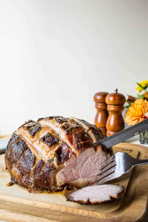 Baked Ham with Citrus Glaze | Photo and Recipe from Beyond the Chicken Coop | Holiday Food and Wine Pairings and Holiday Wine Gifts | foodwithaview.com