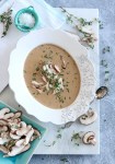 Cream of Wild Mushroom Soup | Keto-Friendly, Gluten-Free, Low-Carb | Recipe on foodwithaview.com