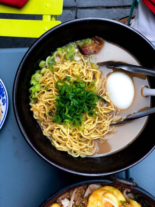 Breakfast Ramen | Talde Jersey City | NJ restaurant reviews by foodwithaview.com