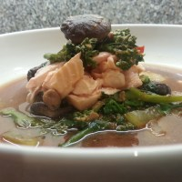 Poached Salmon Miso Soup