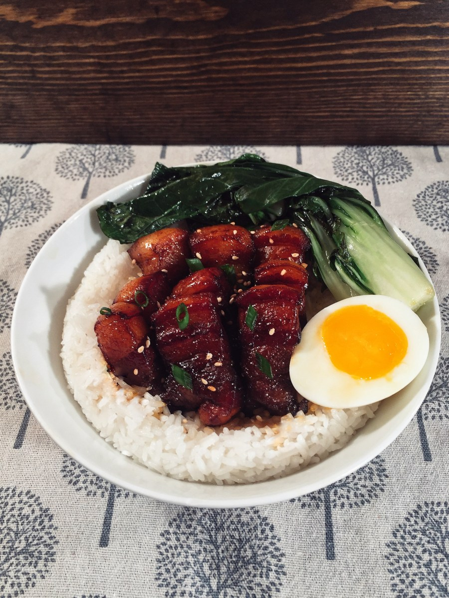 Chinese Braised Pork Belly Cooking with Yusen