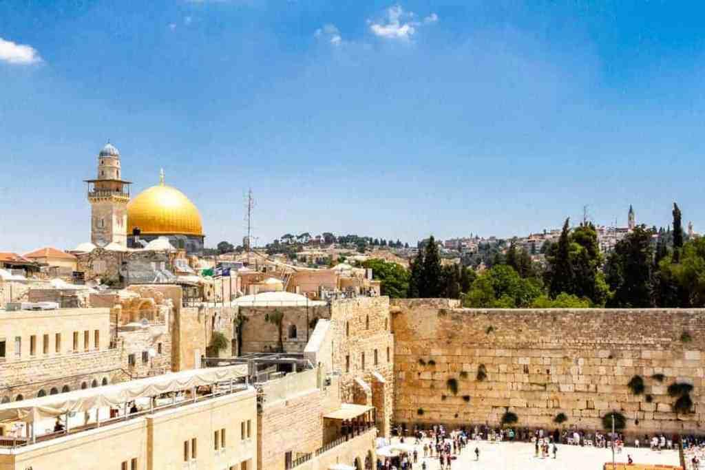 View of Jerusalem's Western Wall