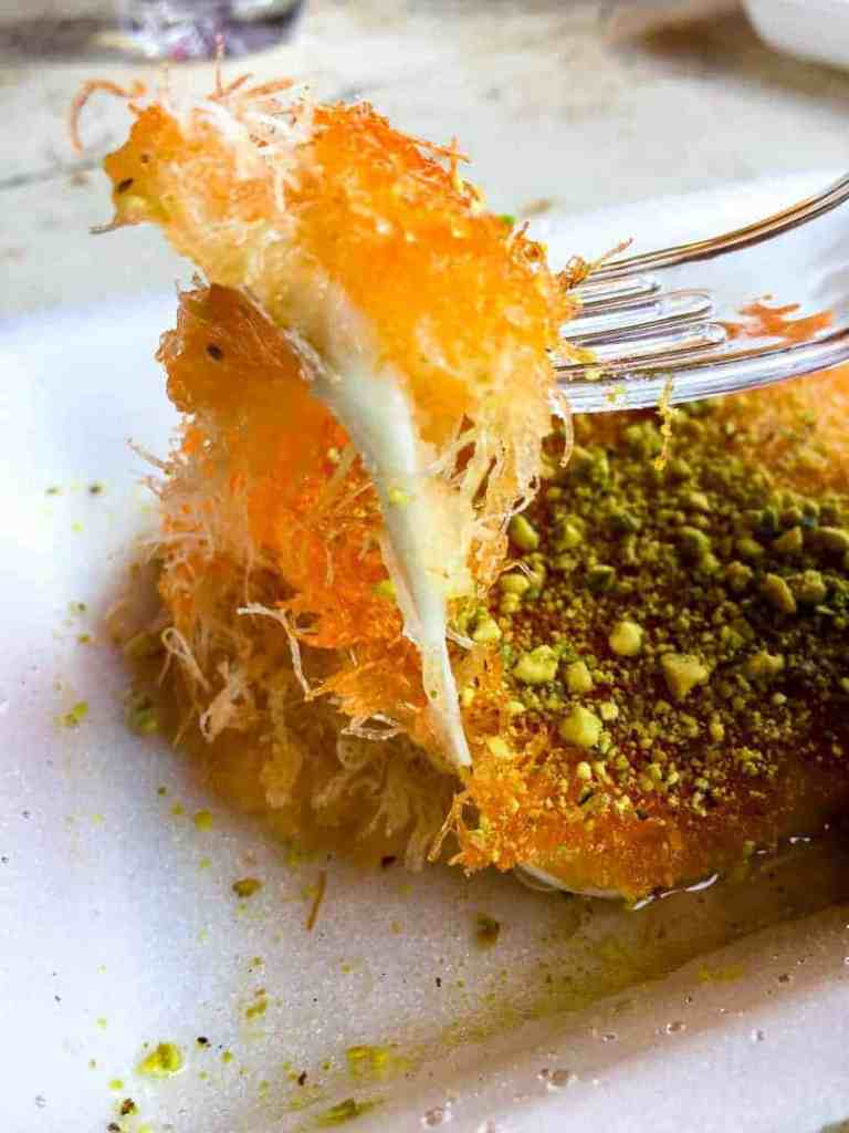 A forkful a knafeh