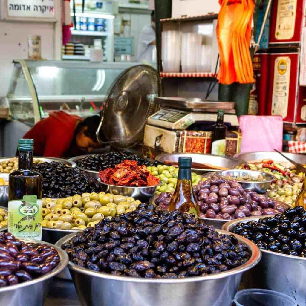 Olive vendor display