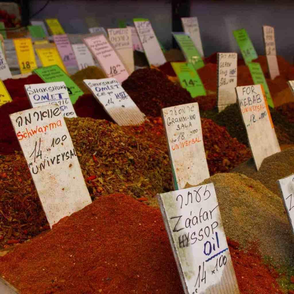 Spice stand in Tel Aviv