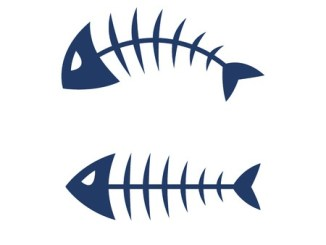 Fish bone skeleton symbol vector icon design.