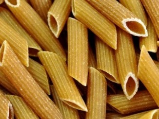 Pasta can easily turn brown if over-processed. Penne.