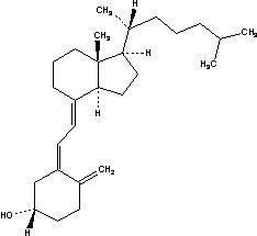 Formula for vitamin D3, colecalciferol