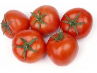 Tomatoes. Tomato on a white background. A fruit that can be affected by blossom end rot.