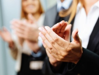 Close-up of business people clapping hands. business seminar. Copyright: baranq / 123RF Stock Photo. (FoodWrite Ltd)