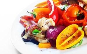 Sweet pepper in a vegetarian dish.