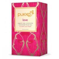 Pukka. A box of Love tea.