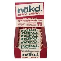 A box of Nakd Berry Cheeky bars.
