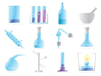 10688697 - icons for chemical lab. vector illustration.