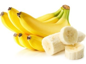 Potassium reduces risk of heart attack and stroke. Bananas isolated on white background.