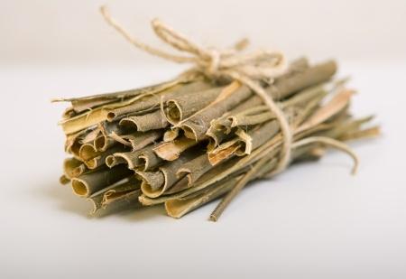 A bundle of white willow bark.