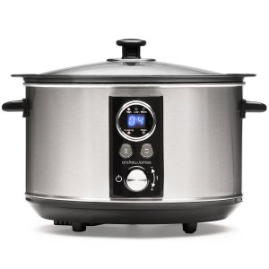 Andrew James Sizzle To Simmer Digital Slow Cooker with Tempered Glass Lid & Removable Aluminium Frying Pot - 3.5L ( New Model )