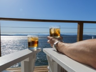 Cocktails on a boat.