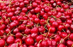 Cherries in full view.