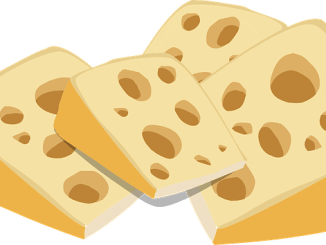 Clipart of cheese with holes in it. A source of histamine and tyramine.