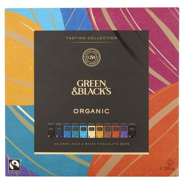 Green & Black's Organic Tasting Collection Boxed Chocolates, 395g