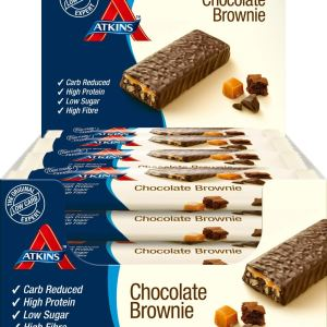 Atkins Low Carb, High Protein, Chocolate Brownie Snack Bar 16 x 60g