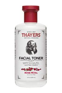 Thayers facial Toner with rose water, vitamin E and witch hazel.