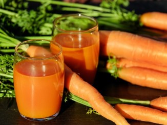 carrots and carrot juice as a source of carotenes.