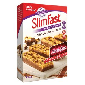 SlimFast Meal Replacement Bar Chocolate Crunch - 4 x Box of 4, Total 16 Bars