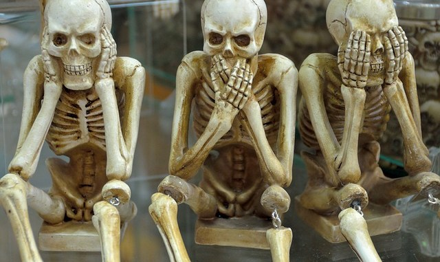 Funny skeletons. Built probably with some boron.