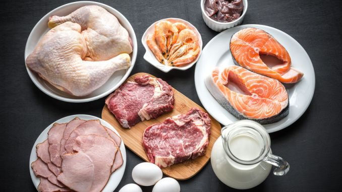 Foods associated with a Dukan Diet.