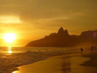 Ipanema beach at sunset. Perhaps somewhere to adopt the South Beach Diet.