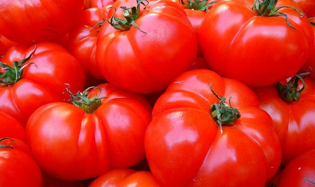 Full image of tomatoes. Containing lots of lycopene.