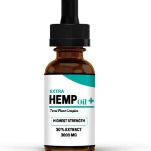 Extra Hemp Oil Plus | 30% Extract | Our Highest Strength 3000mg | Great For Anxiety Pain Relief Sleep Support