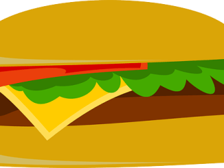 Pictorial of a burger. One that might well contain soy leghemoglobin to obtain the red blood colour.