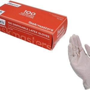 AB Tools Medium Transparent Clear Disposable Latex Gloves 100 Gloves 50 Pairs per Box