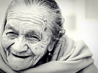 elderly woman in close up. Age increases risk of developing dementia