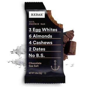 RXBAR, Chocolate Sea Salt, Protein Bar, 1.83 Oz Bar, (24 Total Bars), High Protein Snack, Gluten Free