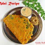 Adai Recipe|Murungai keerai Adai|Drumstick Leaves Adai