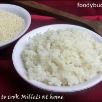 Varagu Sadham / How To Cook Millets In Cooker
