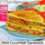 MINT CHUTNEY CUCUMBER SANDWICHES
