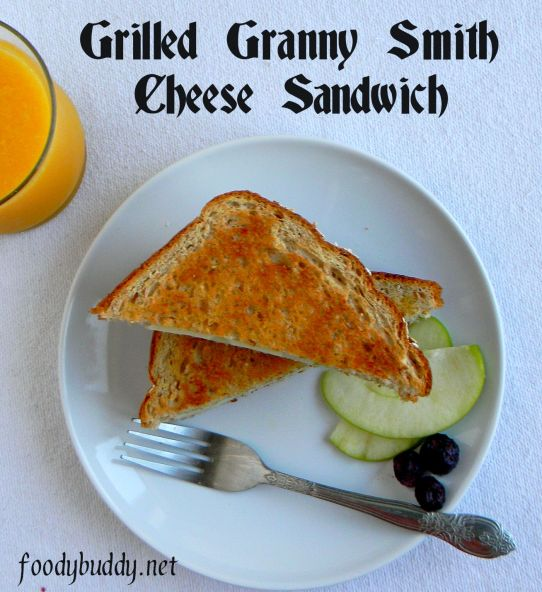 grilled granny smith swiss cheese sandwich